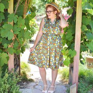 Karina Dresses Green Faux Wrap Dress